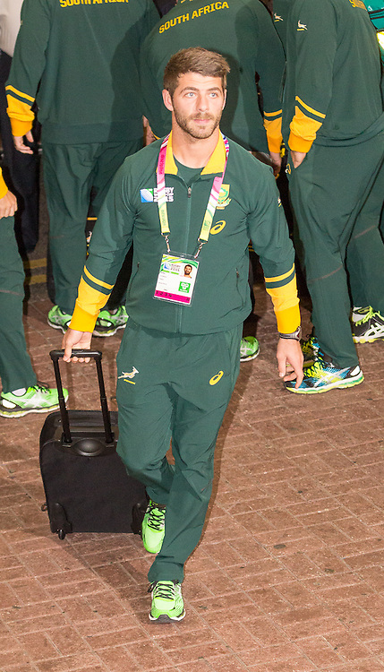 South Africa Willie Le Roux arrives at St. James Park.   South Africa v Scotland, 3rd October 2015