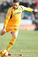 Robbie Willmott of Newport County. Skybet football league 2 match, Newport county v Cheltenham Town at Rodney Parade in Newport, South Wales on Saturday 22nd Feb 2014.<br /> pic by Mark Hawkins, Andrew Orchard sports photography.