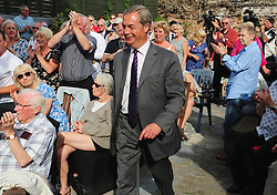 © Licensed to London News Pictures. 03/06/2017<br /> Nigel Farage speaking at a UKIP public meeting in Ramsgate,Kent at Townley Hall in support of UKIP Thanet candidate REV Stuart Piper.<br /> Photo credit: Grant Falvey/LNP