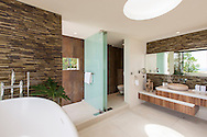 Master bathroom at Lime Villa 4, a luxury private, ocean view villa, Koh Samui, Surat Thani, Thailand