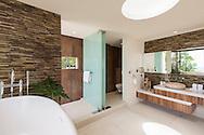 Master bathroom at Lime Villa 4, a luxury private, ocean view villa, Koh Samui, Surat Thani, Thailand