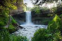 Ray of Light on Minnehaha Falls, Minneapolis, Minnesota