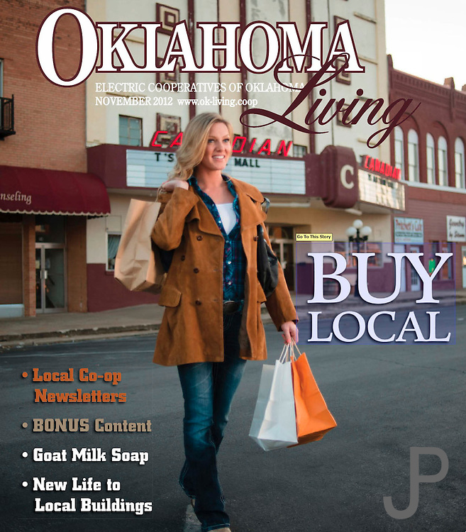 Oklahoma Living Magazine cover November 2012 featuring Amie Taylor