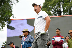 October 13, 2018 - Kuala Lumpur, Malaysia - Byeong-Hun An of South Korea prepares to play his shot on the ninth tee during round three of the CIMB Classic at TPC Kuala Lumpur on 13 October, 2018 in Kuala Lumpur, Malaysia  (Credit Image: © Chris Jung/NurPhoto via ZUMA Press)