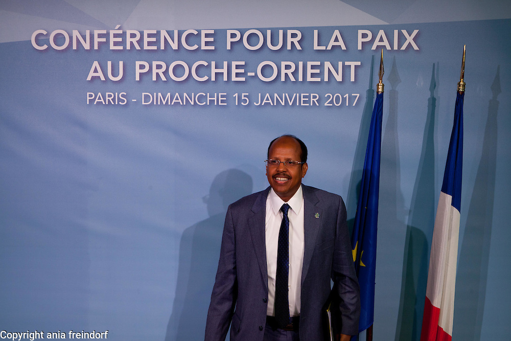 Middle East Peace Conference, Paris, France. International summit. 7O countries have participated in the summit. Djibouti, Mahamoud Ali Youssouf, Minister of Foreign Affairs