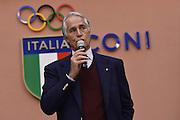 ROMA 20 GENNAIO 2016<br /> PRESENTAZIONE NUOVO CT DELLA NAZIONALE ITALIANA DI BASKET ETTORE MESSINA NELLA FOTO GIOVANNI MALAGO'<br /> Foto Ciamillo