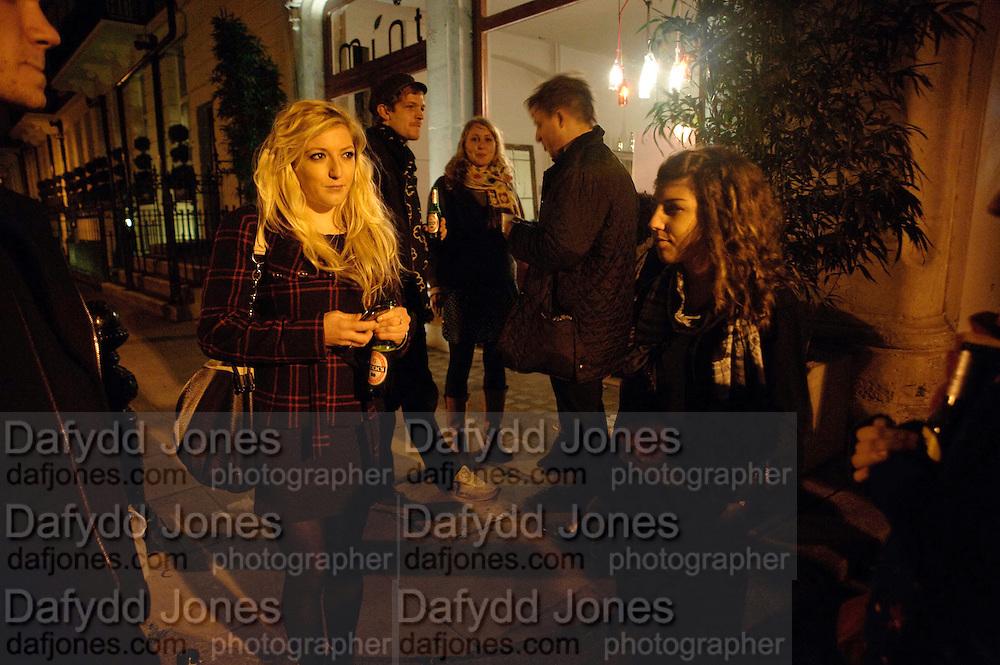 HAYLEY HARPER, Gabriele Beveridge'S WORK. Opening of Statues Die Too.- Group exhibtion of Gabriele Beveridge, Niamh Riordan, Lise Hoveson, Rose O'Gallivan, Poppy Jones. The Garage. North Terrace, South Kensington. London. 16 November 2009.