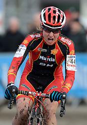 01-02-2014 WIELRENNEN: UCI CYCLO-CROSS WORLD CHAMPIONSHIPS: HOOGERHEIDE <br /> WK veldrijden in Hoogerheide / Rocio Martin Rodriguez ESP<br /> ©2014-FotoHoogendoorn.nl