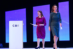 © Licensed to London News Pictures. 18/11/2019. London, UK. Leader of the Liberal Democrats JO SWINSON arrives on the stage to make a keynote speech at the annual CBI (Confederation of British Industry) conference held at Intercontinental Hotel, Greenwich. Photo credit: Dinendra Haria/LNP