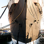 The Peking is a 4 masted, steel-hulled sailing ship that resides at the South Street Seaport Museum in New York City.