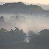 Early morning mist in Mrauk U, the ancient capital of Rakhine State, Myanmar
