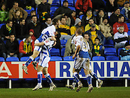 Reading - Saturday December 13th, 2008: Reading celebrate their second goal during the Coca Cola Championship match at The Madjeski Stadium, Reading. (Pic by Alex Broadway/Focus Images)