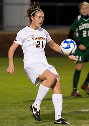 Virginia forward Meghan Lenczyk (21)..The Virginia Cavaliers defeated the Loyola (MD) Greyhounds 4-1 in the first round of the NCAA Women's Soccer tournament held at Klockner Stadium in Charlottesville, VA on November 16, 2007.