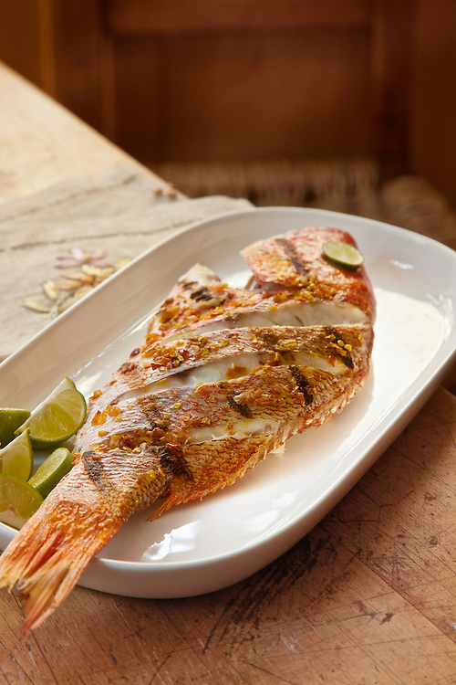 Red snapper garlic, huachinango al mojo de ajo. A classic seaside preparation.