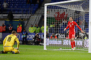 Wales forward Gareth Bale after missing a goal during the Friendly match between Wales and Belarus at the Cardiff City Stadium, Cardiff, Wales on 9 September 2019.