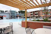 Exterior image of Monticello Garden Apartments Clubhouse in Falls Church VA by Jeffrey Sauers of Commercial Photographics, Architectural Photo Artistry in Washington DC, Virginia to Florida and PA to New England