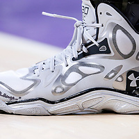 11 April 2014: Close view of Golden State Warriors guard Stephen Curry (30) Under Armour shoes during the Golden State Warriors 112-95 victory over the Los Angeles Lakers at the Staples Center, Los Angeles, California, USA.