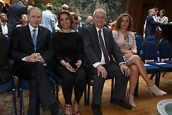 Graaf Jacques Rogge, Princess Haya, Jacky Buchmann, Sabrina Zeender<br /> Viering 25 jaar voorzitterschap Jacky Buchmann<br /> &copy; Hippo Foto - Dirk Caremans<br /> 08/07/15