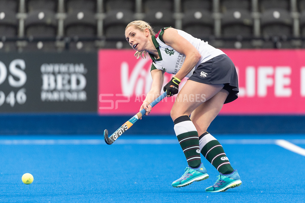 Surbiton's Jo Hunter. Holcombe v Surbiton - Investec Women's Hockey League Final, Lee Valley Hockey & Tennis Centre, London, UK on 29 April 2018. Photo: Simon Parker