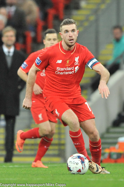 JORDAN HENDERSON LIVERPOOLLiverpool v Manchester City, Capital One Cup Final Wembley Stadium, Sunday 28th Febuary 2016
