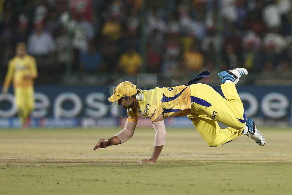 Suresh Raina of The Chennai Superkings in action during match 26 of the Pepsi Indian Premier League Season 2014 between the Delhi Daredevils and the Chennai Superkings held at the Ferozeshah Kotla cricket stadium, Delhi, India on the 5th May  2014<br /> <br /> Photo by Deepak Malik / IPL / SPORTZPICS<br /> <br /> <br /> <br /> Image use subject to terms and conditions which can be found here:  http://sportzpics.photoshelter.com/gallery/Pepsi-IPL-Image-terms-and-conditions/G00004VW1IVJ.gB0/C0000TScjhBM6ikg