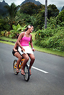 Copyright Jim Rice ©2013.<br /> Young girls having fun Tahiti