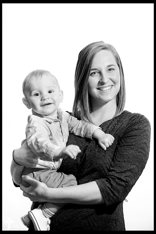 #EyesofLife A portrait of Kacey Miller and her son Leo at St. Paul Evangelical Lutheran Church on Sunday, April 10, 2016, in Columbus, Ind. LCMS Communications/Erik M. Lunsford