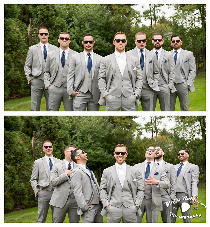 groomsmen, wedding party by Tallmadge wedding photographer, Akron wedding photographer Mara Robinson Photography