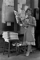 Von the newspaper seller at BSC River Don Works Sheffield 16/09/1982