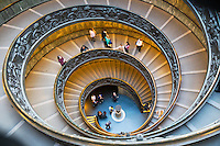 Bramante Staircase in Vatican Museums, Rome, Italy