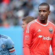 NEW YORK, NEW YORK - March 12:  Goalkeeper Bill Hamid #28 of D.C. United during the NYCFC Vs D.C. United regular season MLS game at Yankee Stadium on March 12, 2017 in New York City. (Photo by Tim Clayton/Corbis via Getty Images)