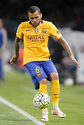 09.04.2016, Estadio de Anoeta, San Sebastian, ESP, Primera Division, Real Sociedad vs FC Barcelona, 32. Runde, im Bild FC Barcelona's Dani Alves // during the Spanish Primera Division 32th round match between Real Sociedad and FC Barcelona at the Estadio de Anoeta in San Sebastian, Spain on 2016/04/09. EXPA Pictures © 2016, PhotoCredit: EXPA/ Alterphotos/ Acero<br /> <br /> *****ATTENTION - OUT of ESP, SUI*****