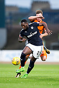 Dundee United defender Jamie Robson (#17) and Dundee forward Roarie Deacon (#21) battle for possession of the ball during the Betfred Scottish Cup match between Dundee and Dundee United at Dens Park, Dundee, Scotland on 9 August 2017. Photo by Craig Doyle.