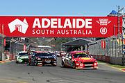 SCOTT MCLAUGHLIN (Shell DJR Penske Ford) leads the start of the race. Adelaide 500 -Virgin Australia Supercars Championship Round 1. Adelaide Street Circuit, South Australia. Saturday 3 March 2018. Photo Clay Cross / photosport.nz
