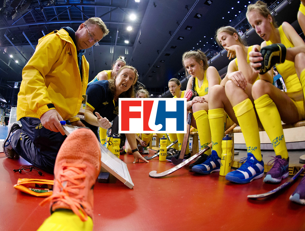 BERLIN - Indoor Hockey World Cup<br /> Quarterfinal 1: Belarus - Australia<br /> foto: HOCKING Sue-Anne<br /> WORLDSPORTPICS COPYRIGHT FRANK UIJLENBROEK