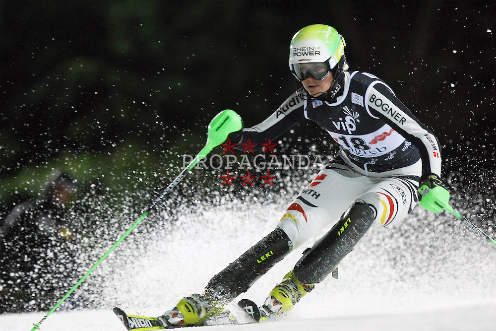 03.01.2012, Crveni Spust, Sljeme, CRO, FIS Weltcup Ski Alpin, Zagreb, Damen Slalom 2. Durchgang, im Bild Fanny Chmela during Slalom race 2nd run of FIS Ski Alpine World Cup at 'Crveni Spust' course in Sljeme, Zagreb, Croatia on 2012/01/03. EXPA Pictures © 2012, PhotoCredit: EXPA/ nph/ PIXSELL/ Sajin Strukic..***** ATTENTION - OUT OF GER, CRO *****