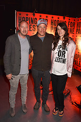 "Matthew Freud, Woody Harrelson, Bella Freud at ""Hoping For Palestine"" Benefit Concert For Palestinian Refugee Children held at The Roundhouse, Chalk Farm Road, England. 04 June 2018."
