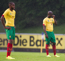 29.05.2014, Kufstein Arena, Kufstein, AUT, FIFA WM, Testspiel, Kamerun vs Paraguay, im Bild v.l.: Loe Cedric (Kamerun), Noukeu Dany (Kamerun) // v.l.: Loe Cedric (Kamerun), Noukeu Dany (Kamerun) during friendly match between Cameroon and Paraguay for Preparation of the FIFA Worldcup Brasil 2014 at the Kufstein Arena in Kufstein, Austria on 2014/05/29. EXPA Pictures © 2014, PhotoCredit: EXPA/ JFK