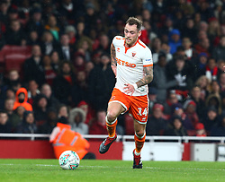 October 31, 2018 - London, England, United Kingdom - London, UK, 31 October, 2018.Blackpool's Harry Pritchard.During Carabao Cup fourth Round between Arsenal and Blackpool at Emirates stadium , London, England on 31 Oct 2018. (Credit Image: © Action Foto Sport/NurPhoto via ZUMA Press)