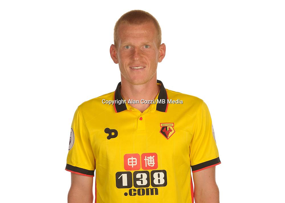 Watford FC Season 2016-17 Premier Lge<br /> Pic Alan Cozzi 02/08/2016<br /> Sopwell House Photocall Headshot's<br /> Watford's Ben Watson