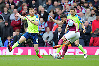 Aston Villa v Derby County - Sky Bet Championship<br /> BIRMINGHAM, ENGLAND - APRIL 28 :  Aston Villa's Robert Snodgrass gets in a cross as Derby's Alex Pearce tries to block