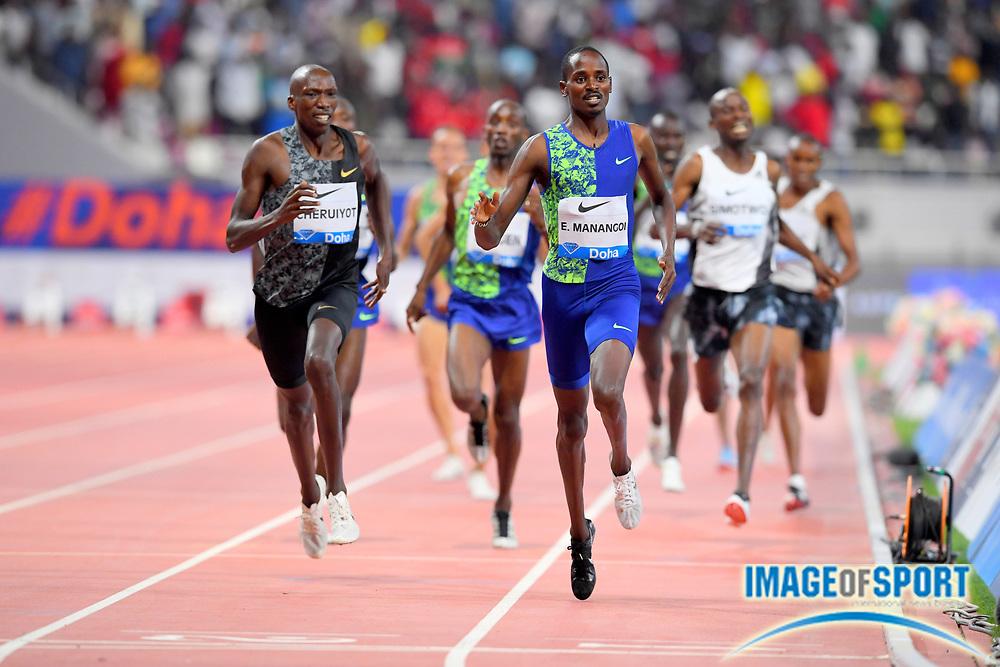 Elijah Manangoi (KEN) wins the 1,500m in 3:32.21 during the IAAF Doha Diamond League 2019 at Khalifa International Stadium, Friday, May 3, 2019, in Doha, Qatar