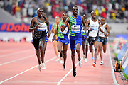 Elijah Manangoi (KEN) wins the 1,500m in 3:32.21 during the IAAF Doha Diamond League 2019 at Khalifa International Stadium, Friday, May 3, 2019, in Doha, Qatar