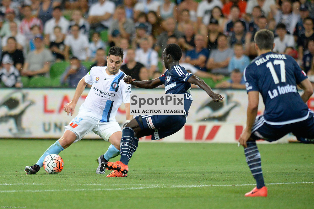 Bruno Fornaroli of Melbourne City, Hyundai A-League, 19th December 2015, RD11 match between Melbourne City FC v Melbourne Victory FC at Aami Park in a 2:1 win to City in front of a 23,000+ crowd. Melbourne Australia. © Mark Avellino | SportPix.org.uk