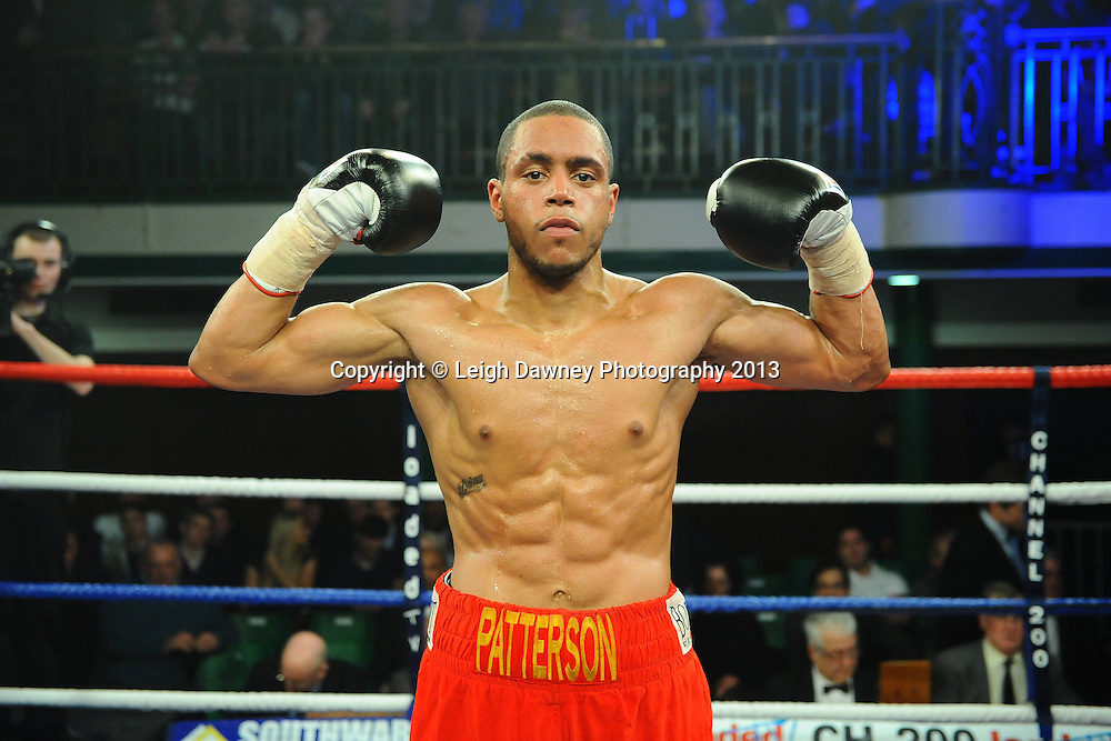 Ahmet Patterson defeats Max Maxwell in a Light Welterweight contest at York Hall, Bethnal Green, London, UK on the 15th March 2013. Frank Maloney Promotions. © Leigh Dawney Photography 2013.Ahmet Patterson defeats Max Maxwell in a Light Welterweight contest at York Hall, Bethnal Green, London, UK on the 15th March 2013. Frank Maloney Promotions. © Leigh Dawney Photography 2013.