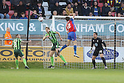Paul Robinson defender for AFC Wimbledon (6) during the Sky Bet League 2 match between Dagenham and Redbridge and AFC Wimbledon at the London Borough of Barking and Dagenham Stadium, London, England on 19 April 2016. Photo by Stuart Butcher.