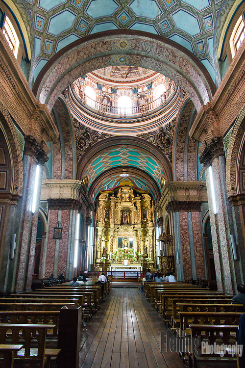 The Church of El Sagrario is located in the historic center of Quito and was built between the 17th and 18th centuries.