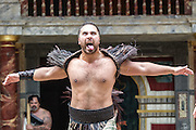 23/04/2012. London, UK.  On 23 April  Shakespeares Birthday  the Globe to Globe Festival, part of the World Shakespeare Festival for the London 2012 Festival, kicks off at Shakespeares Globe Theatre with a traditional ceremonial haka performed by New Zealands Ngkau Toa theatre company, Deafinitely Theatre Loves Labours Lost into British Sign Language and A Shona language version of Two Gentlemen of Verona is performed by members of the Two Gents theatre company. Picture shows Ngkau Toa theatre company. Photo credit : Tony Nandi/LNP