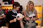 CARRIE HARWOOD; ELISE HAMER, Juicy Couture and Fifi Lapin - masquerade Ball<br /> Juicy Couture, 27 Bruton Street, London,  7 March 2012