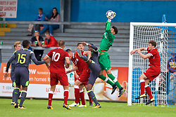 NUNEATON, ENGLAND - Sunday, July 30, 2017: Liverpool's goalkeeper Shamal George during a pre-season friendly between Liverpool and PSV Eindhoven at the Liberty Way Stadium. (Pic by Paul Greenwood/Propaganda)
